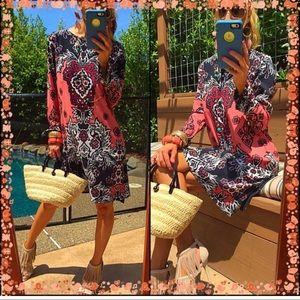 INC midi floral dress